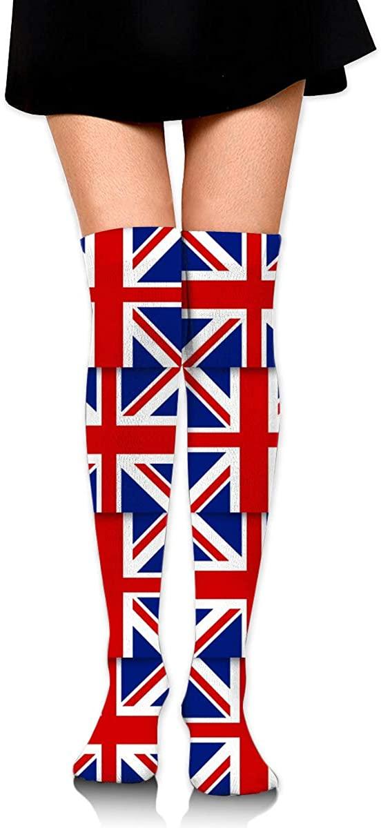 Dress Socks UK British Flag Long Knee Hose Casual Hold-Up Stockings For Training
