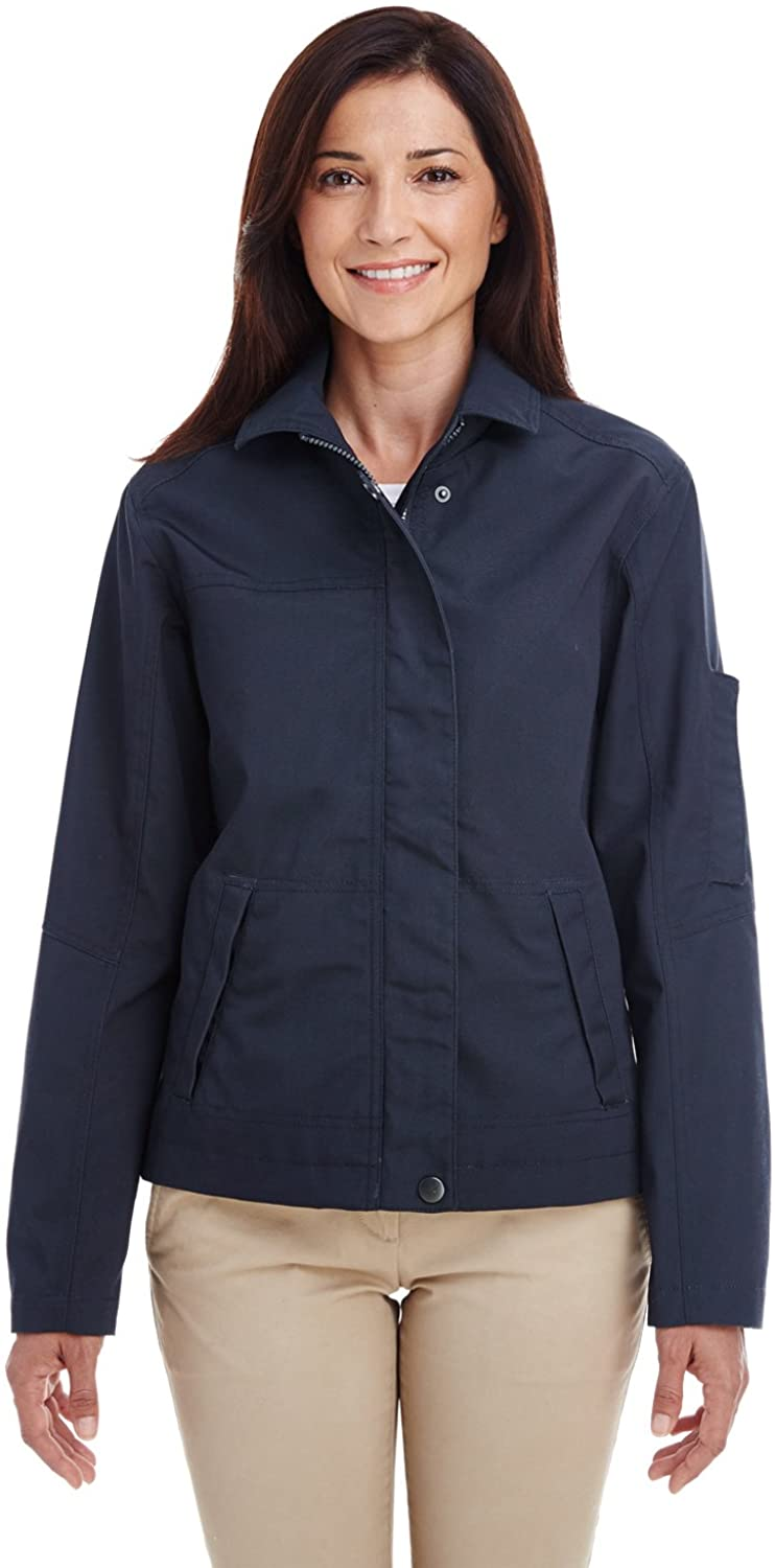 Harriton Ladies' Auxiliary Canvas Work Jacket XL Dark Navy