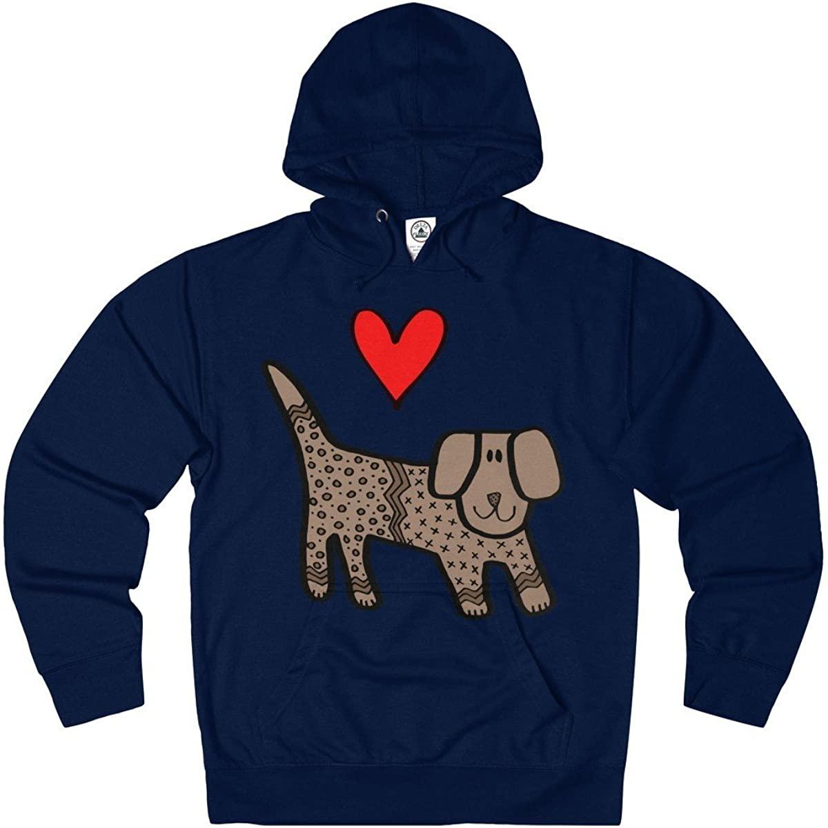 USpin Dog Lover Hoodie Sweatshirt For Women Men Boys Girls - Cute Dog Lover Gift Idea - French Terry Hoodie