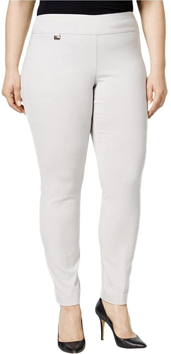 Alfani Womens Plus Tummy Control Pull On Skinny Pants