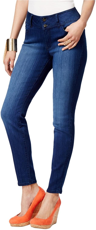 Thalia Sodi Womens Double-Button Skinny Fit Jeans