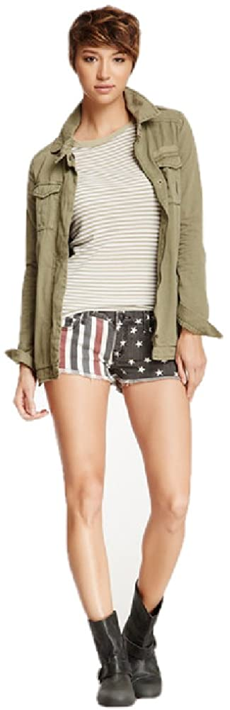 Black and Red Stars & Stripes Short