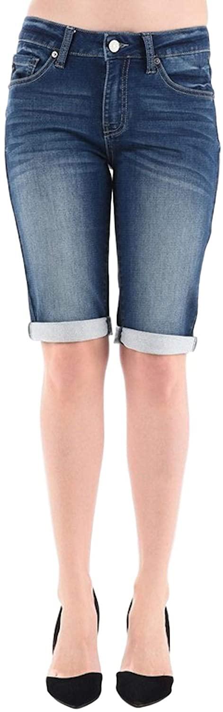 KanCan Jeans Mid-Rise Bermudas Shorts Dark Wash KC5020D