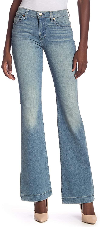 7 For All Mankind Dojo Contrast Wide Leg Jeans, AUTHPRTFNO 28