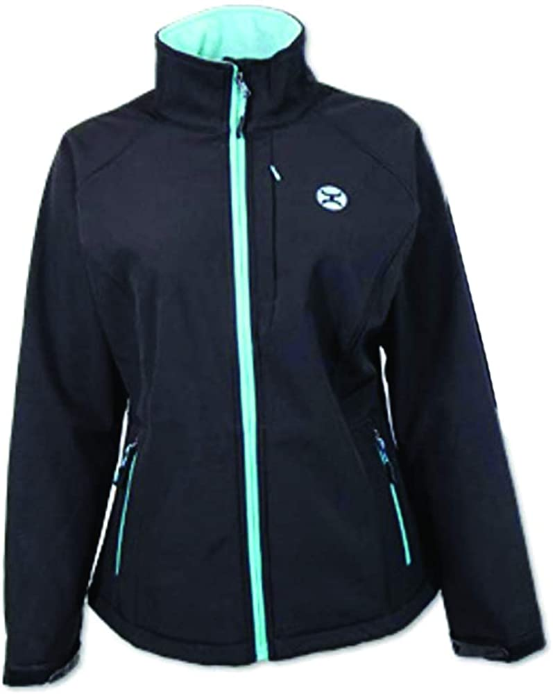 HOOEY Womens Softshell Blue Trim Jacket - Hj050bk
