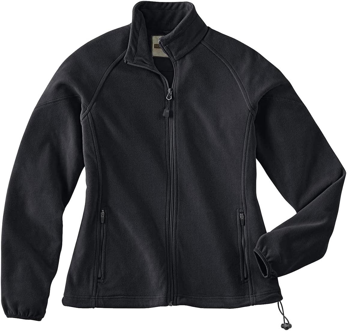 Ash City Womens Micro Fleece Unlined Jacket (Large, Black)