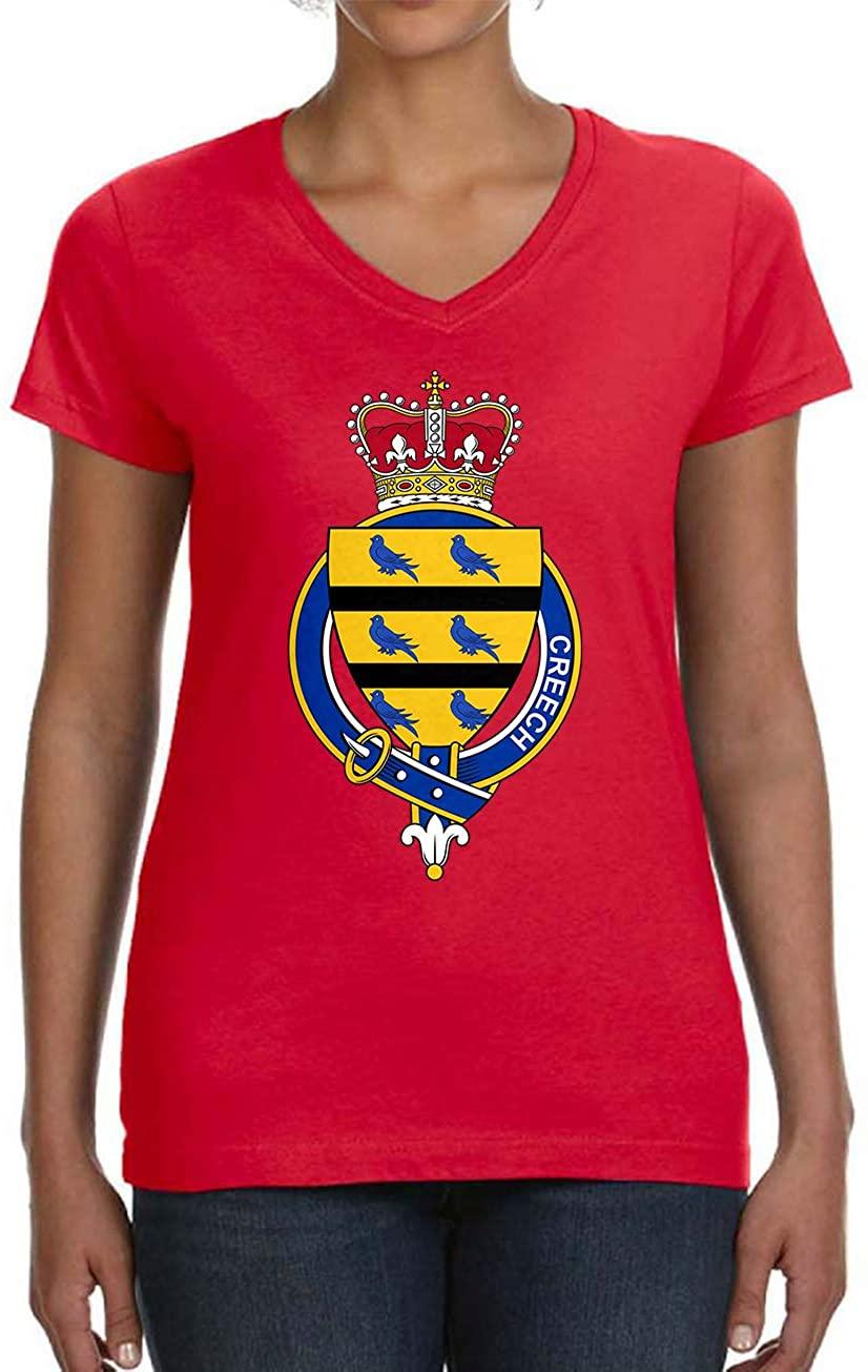 Tenacitee Women's Scottish Garter Family Creech V-Neck T-Shirt