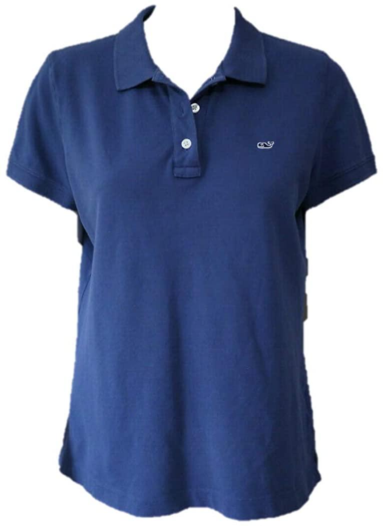 Vineyard Vines Women's Short Sleeve Classic Polo - Blue