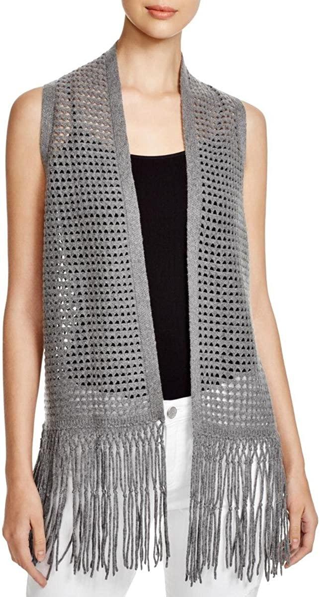 Elie Tahari Womens Maeve Wool/Cashmere Blend Open Knit Sweater Vest