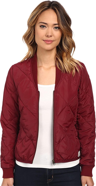 Obey Women's Darby Lightweight Puffer Jacket Oxblood Outerwear LG
