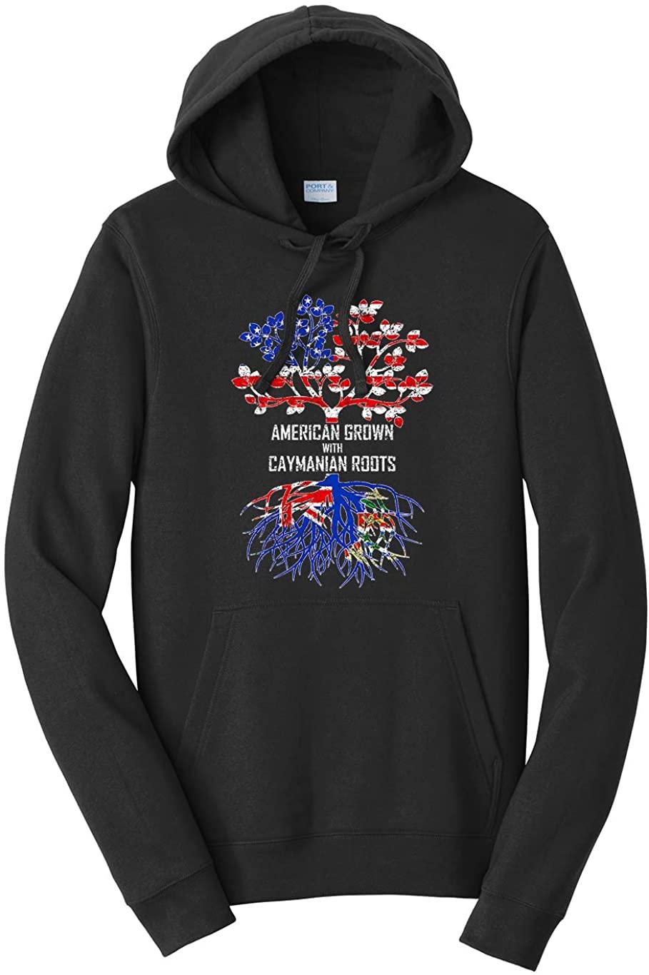 Tenacitee Unisex American Grown with Caymanian Roots Hooded Sweatshirt