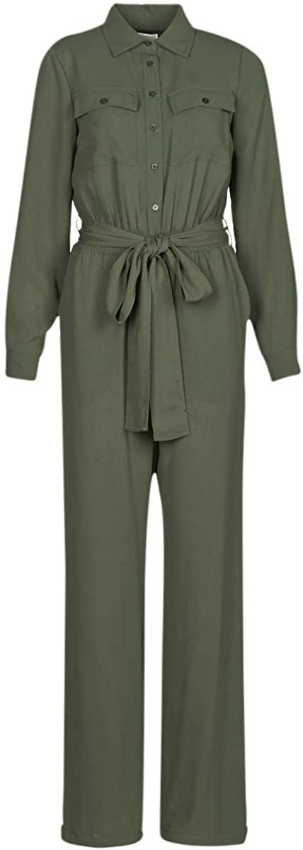 Michael Michael Kors Roll SLV Safari Jmpst Jumpsuits/Dungarees Women Kaki - XS - Jumpsuits/Dungarees Dress