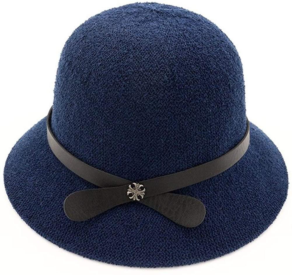 Bin Zhang Spring and Summer Women's Basin hat Dome Woven Straw hat Loose Sunscreen Visor Outdoor Travel Beach hat Sun hat