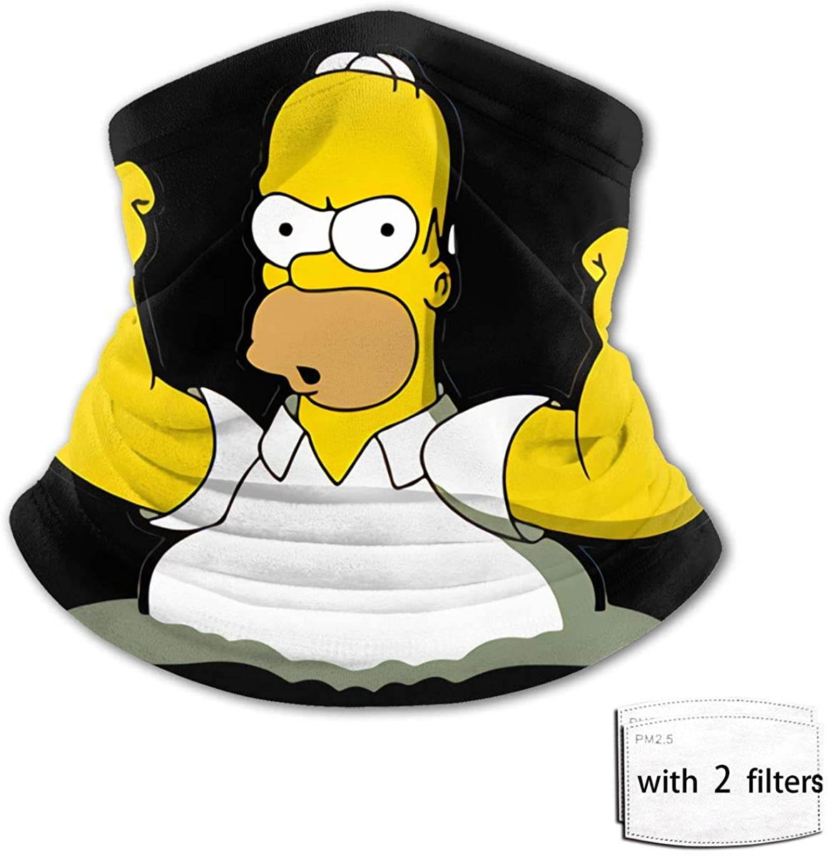 The Simpsons Print Teenager Bib Face Mask Turban Balaclava Tube Headband Dust And Sunscreenwith 2 Filter
