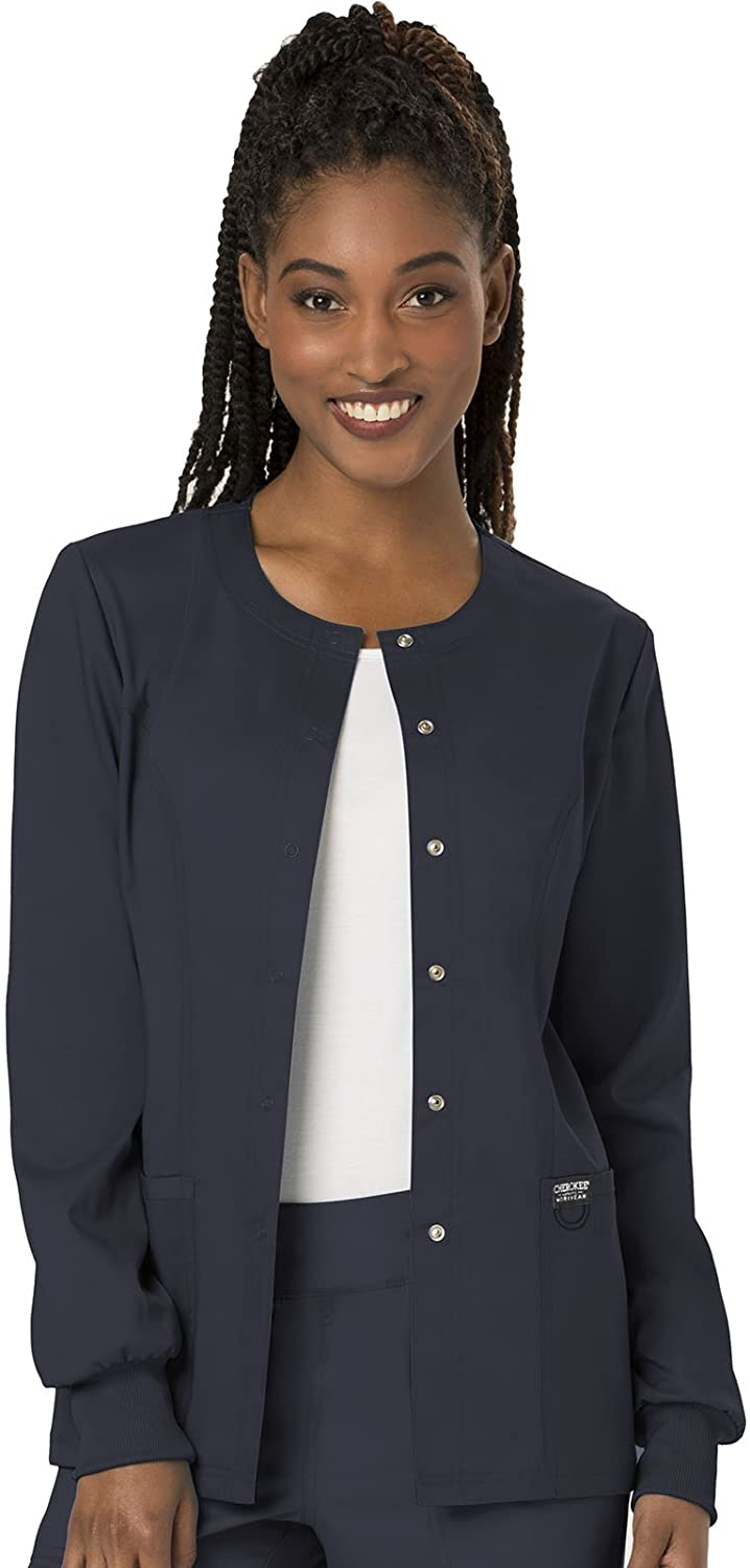 Cherokee Women's Snap Front Warm-up Jacket, Pewter, X-Large