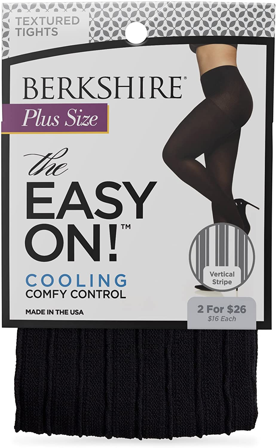 Berkshire The Easy On! Vertical Stripe Plus Size Tights