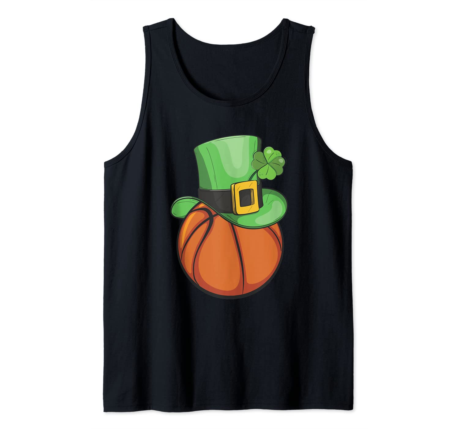 Basketball Leprechaun With Clover Shamrock St.Patrick's Day Tank Top