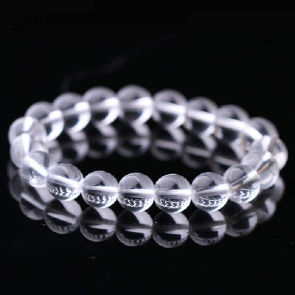 BXZ Stone Bracelet,Transparent White Bracelet Fashion Natural Stone Bracelets for Women Men Agates Beaded Yoga Bracelets Birthday Wedding Party The Ball Gives Friends The Best Gift