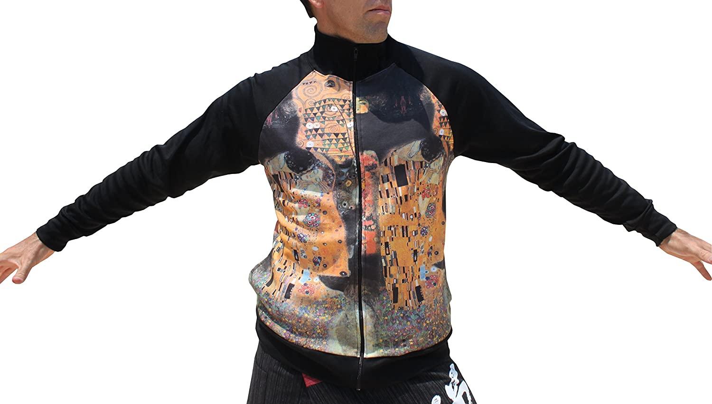 RaanPahMuang Kiss Collage by Gustav Klimt - Light Weight Zip Jacket
