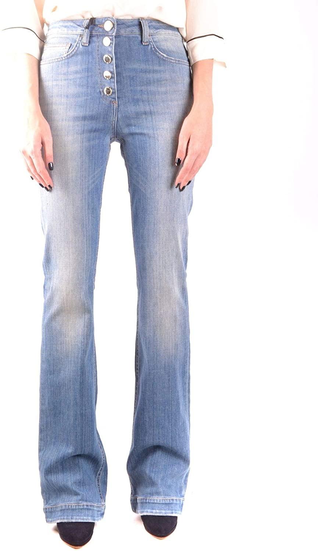 ELISABETTA FRANCHI Luxury Fashion Woman MCBI35997 Blue Cotton Jeans | Season Outlet