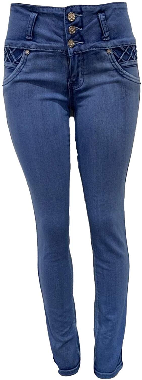 Tush Push New 1615 Blue Pockets Colombian Design Push up Skinny Jeans