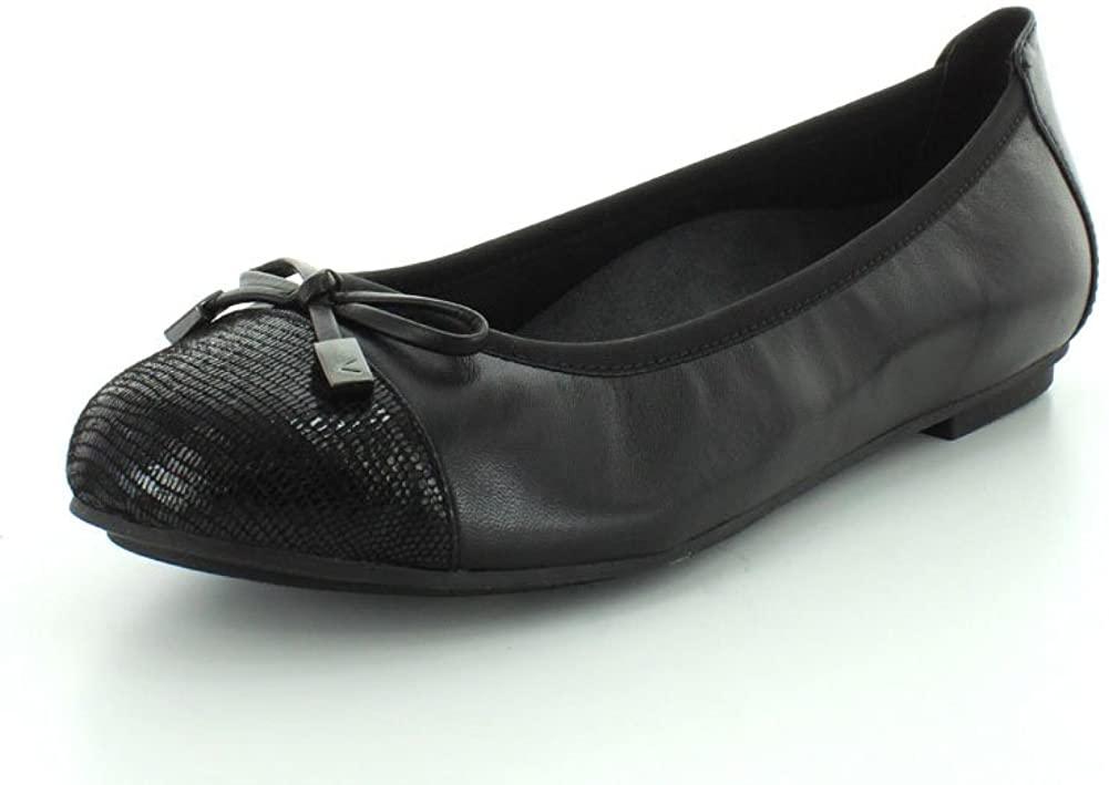 Vionic Women's, Spark Minna Ballet Flat Black 7 M