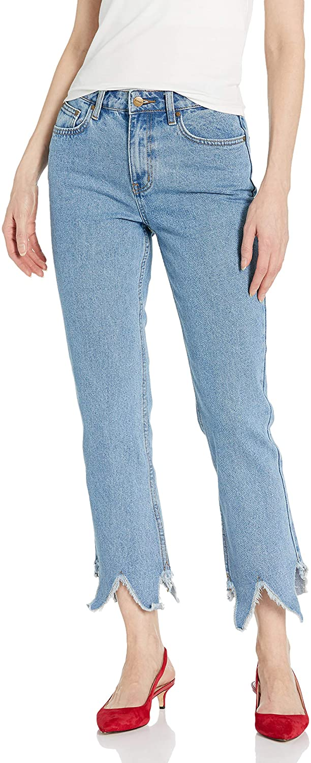 EVIDNT Women's Essen Relaxed Raw Hem Jeans