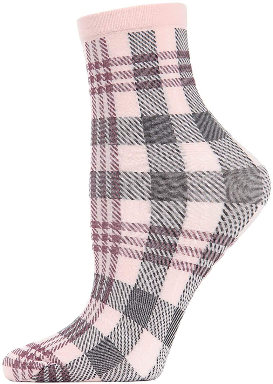 MeMoi Perfect Plaid Anklet Socks | Women's Fashion Socks