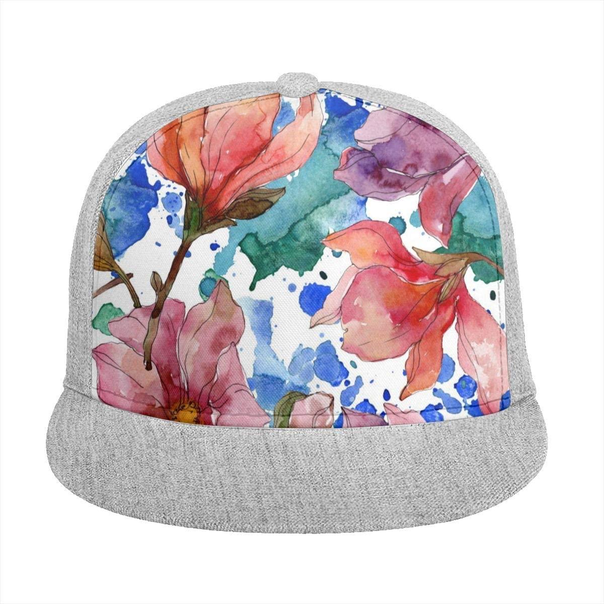 Sun Visor Hat Camelia Floral Botanical Flowers Watercolor Baseball Cap Flat Brim Hat for Women Men Summer