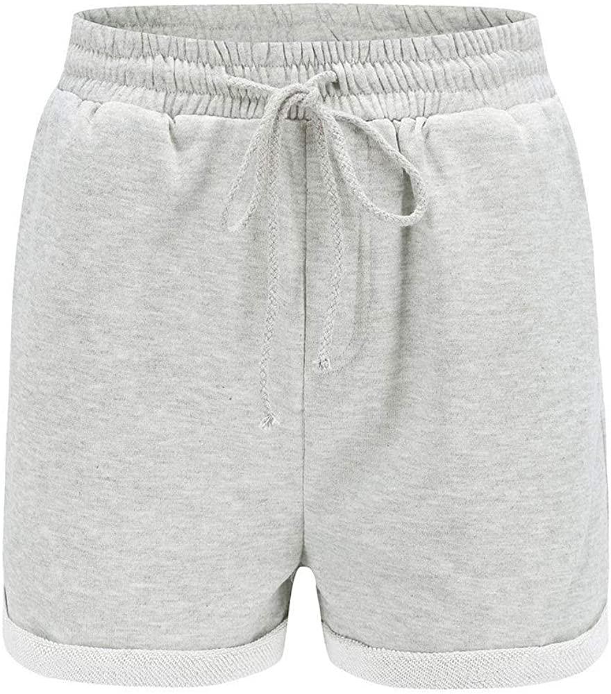 Adeliber Womens Shorts Summer Casual hot Pants Loose Sports Shorts Beach Pants High Waist Shorts