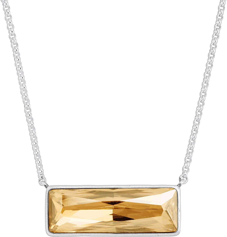 Silpada Gilt-Y Pleasure Golden Swarovski Crystal Necklace in Sterling Silver, 18 + 2