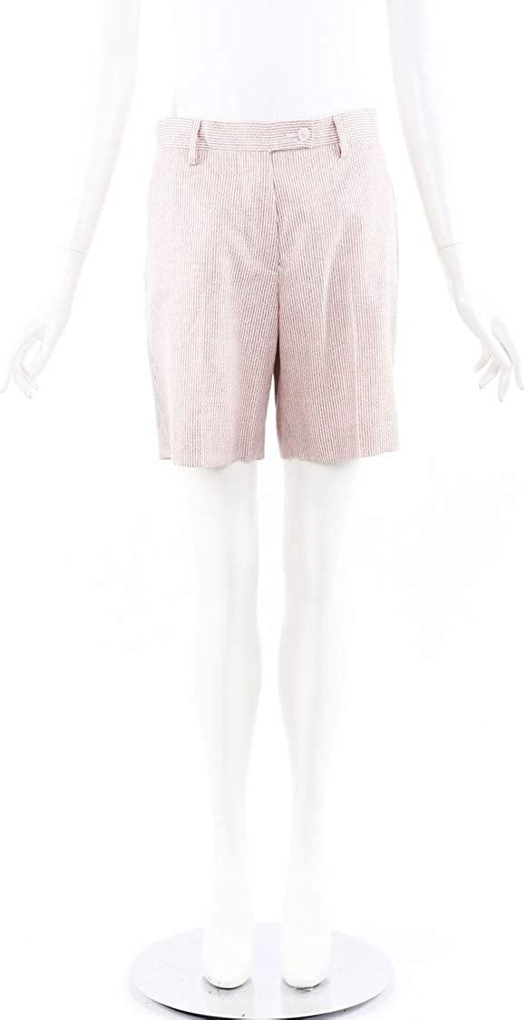Kiton Striped Cashmere Silk Shorts SZ 40 Redwhite