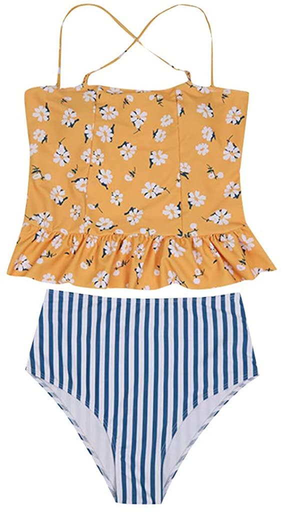 Teen Girls Bikinis,Boomboom Bandage Bikini Set Push-Up Padded Swimsuit for Juniors Girls