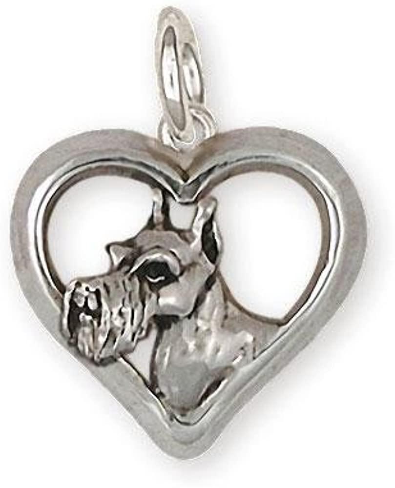 Schnauzer Charm Jewelry Sterling Silver Handmade Schnauzer Charm SN33-C