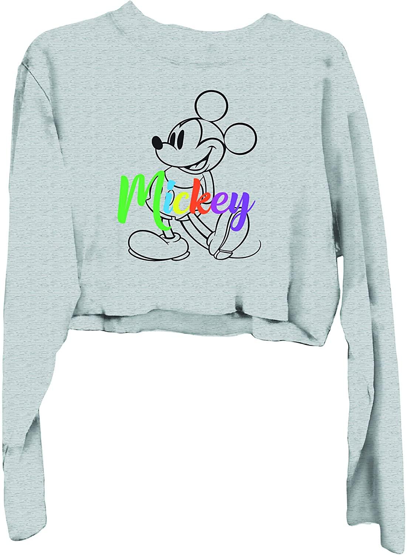 Disney Ladies Mickey Mouse Fashion Shirt Mickey Mouse Oversized Raglan Sweatshirt