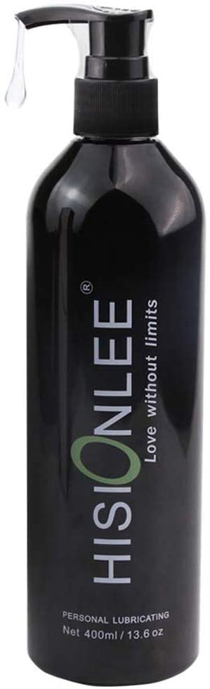 Hisionlee Natural Personal Lubricant Silicone Water Based Lube,400 ML/13.10 oz Black