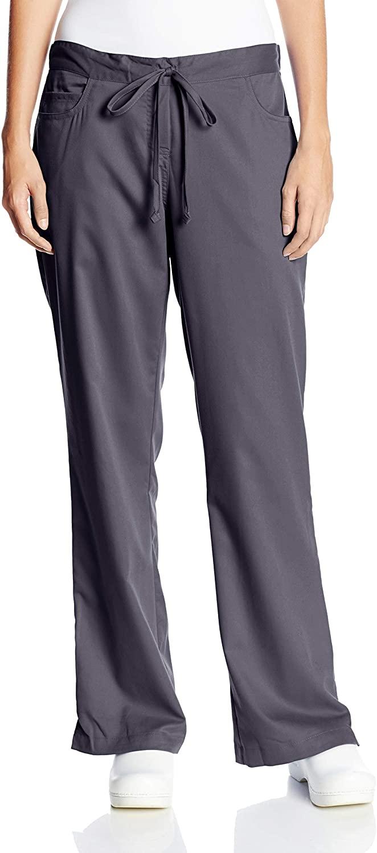 Grey's Anatomy Women's Junior-Fit Five-Pocket Drawstring Scrub Pant - X-Large Petite - Steel