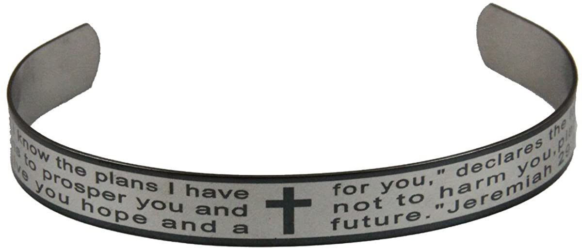 4030782 Jeremiah 29:11 Scripture Bangle Cuff Bracelet Bible Verse for I Know The Plans I Have for You