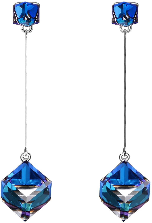 SIVERY Earrings for Women 'Infinity Love' Dangle Earrings with Swarovski Crystals, Jewelry for Women