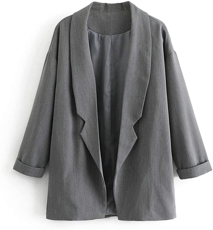 Women Dark Green Elegant Blazer Chic Lady Spring Blazer Long Sleeve Coat Female Woman Outerwear Tops