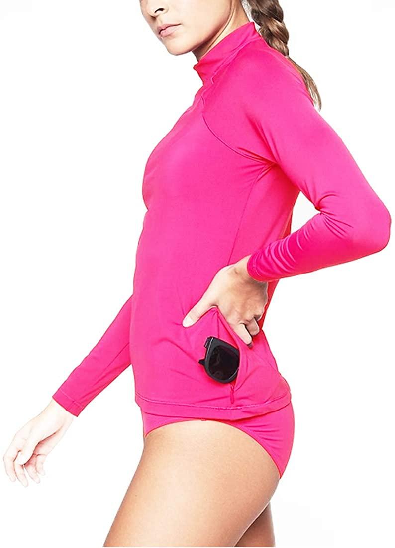 king sun exercise Women's Swimsuits Surfing Suit Back Zip Rashguard Long Sleeve Beachwear Swim Yoga Outdoor Sportswear