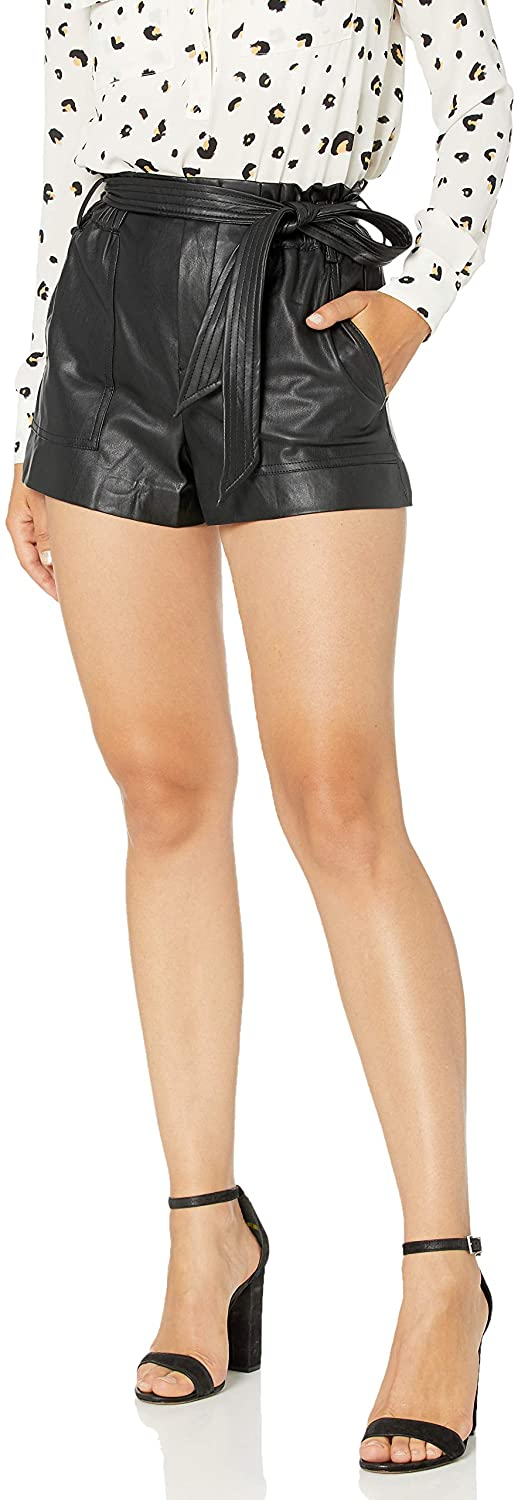 [BLANKNYC] Women's Vegan Leather Shorts Shorts