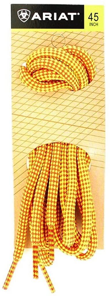 Ariat Unisex Nylon Shoelaces,Yellow,45