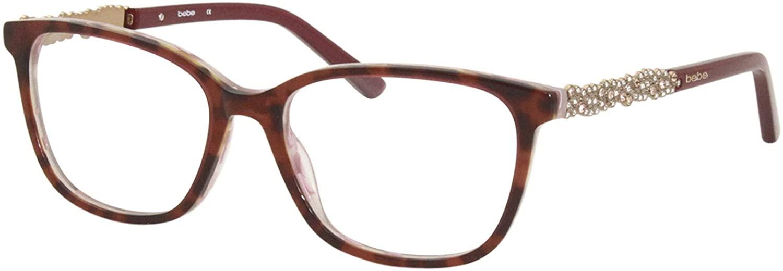 Bebe BB5176 650 Eyeglasses Women's Berry Tortoise Full Rim Optical Frame 53mm