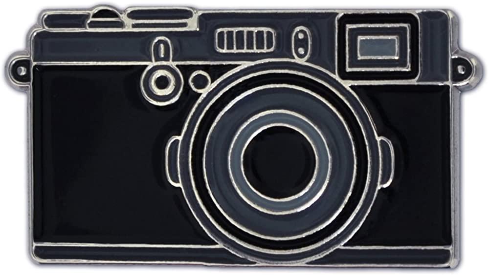 PinMart Trendy Black Camera Photography Lover Enamel Lapel Pin