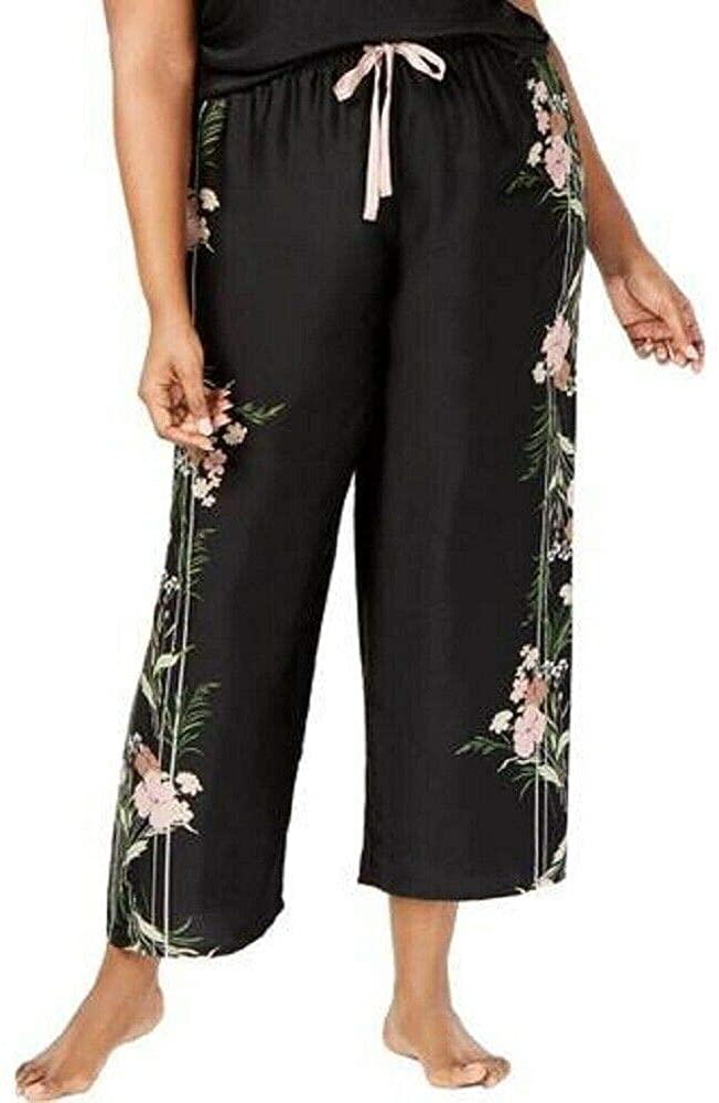 INC Plus Size Printed Pajama Pants, Spicy Floral Stripe, 1X