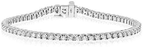 2.0CT ROUND CUT DIAMOND 14KT WHITE GOLD 3D CLASSIC LOVE TENNIS BRACELET