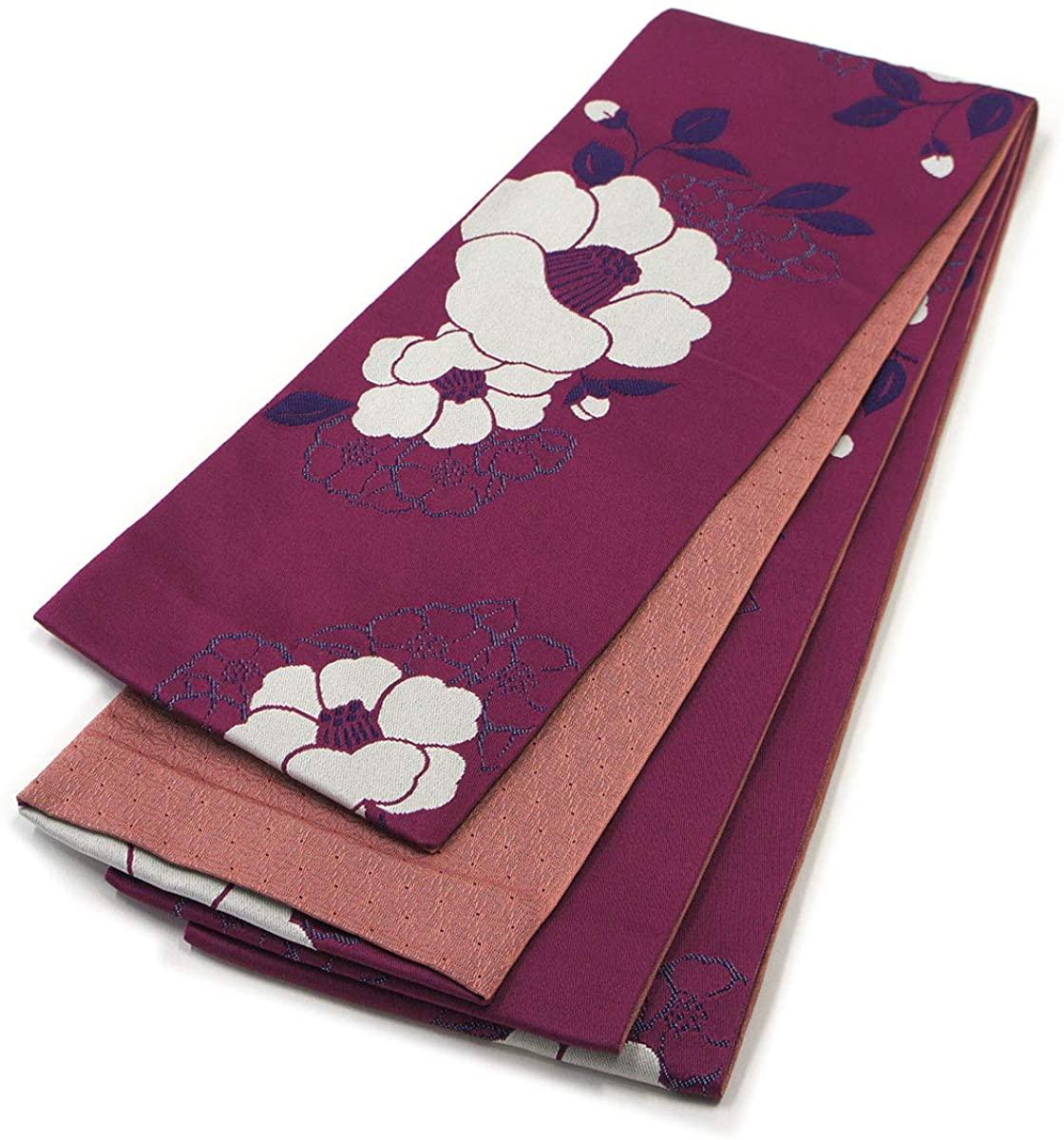 Japanese Hanhaba OBI Belt for Yukata Kimono Purple Pink