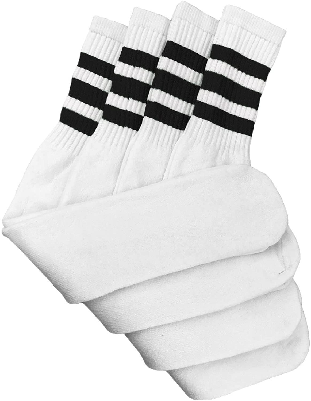 Tube Socks Assorted Stripe Colors 24