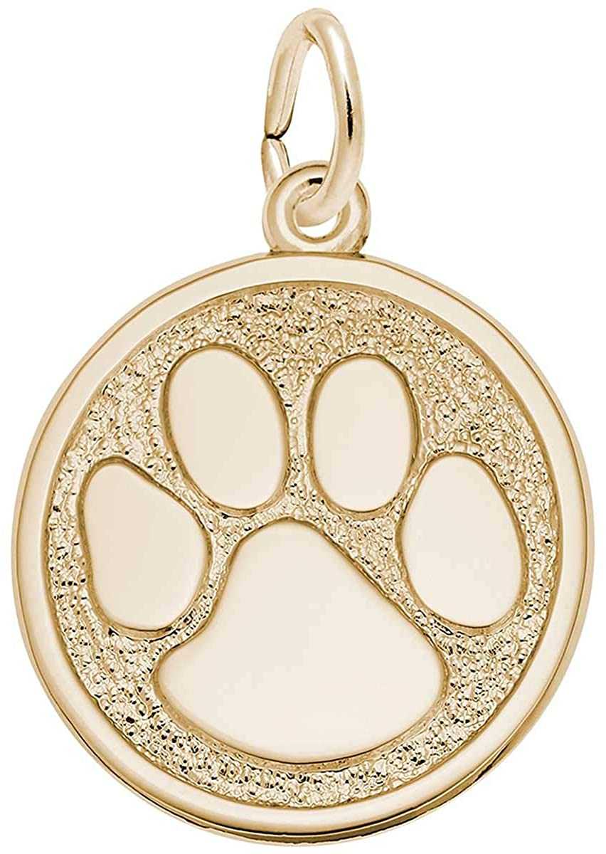 Rembrandt Charms Tiger Paw Charm, 10K Yellow Gold
